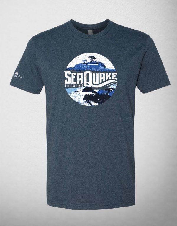 SeaQuake Blue Lighthouse Design T- Shirt