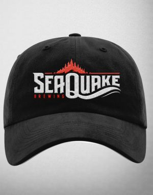 SeaQuake Black Full Logo Baseball Cap