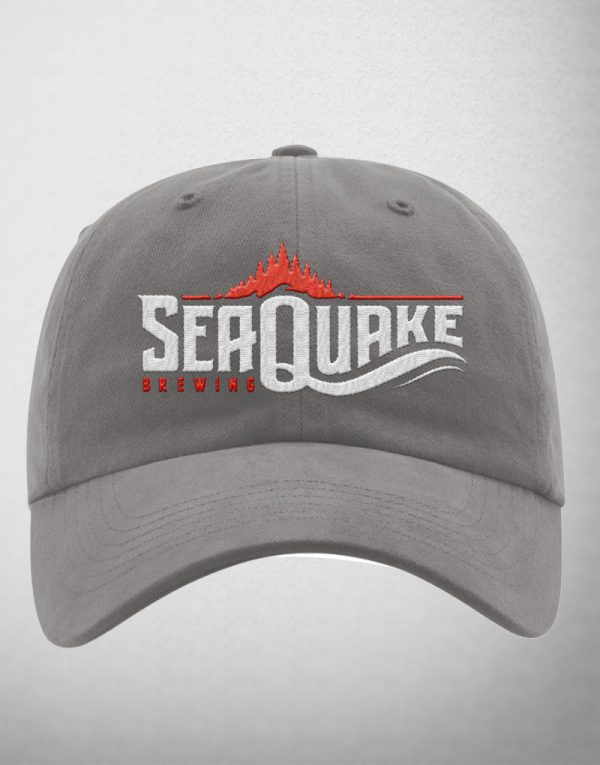 SeaQuake Grey Adjustable Back Cap