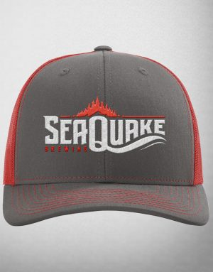SeaQuake Full Logo Grey Cap w/ Red Detail