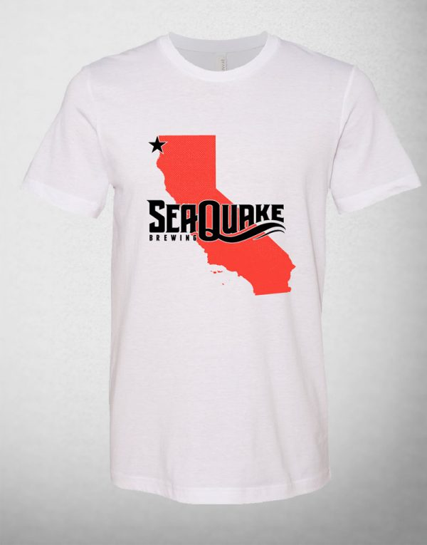 SeaQuake Orange California Tee Shirt