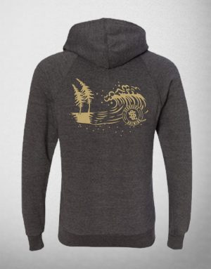 SeaQuake Redwood Trees and  Wave Pullover Sweatshirt