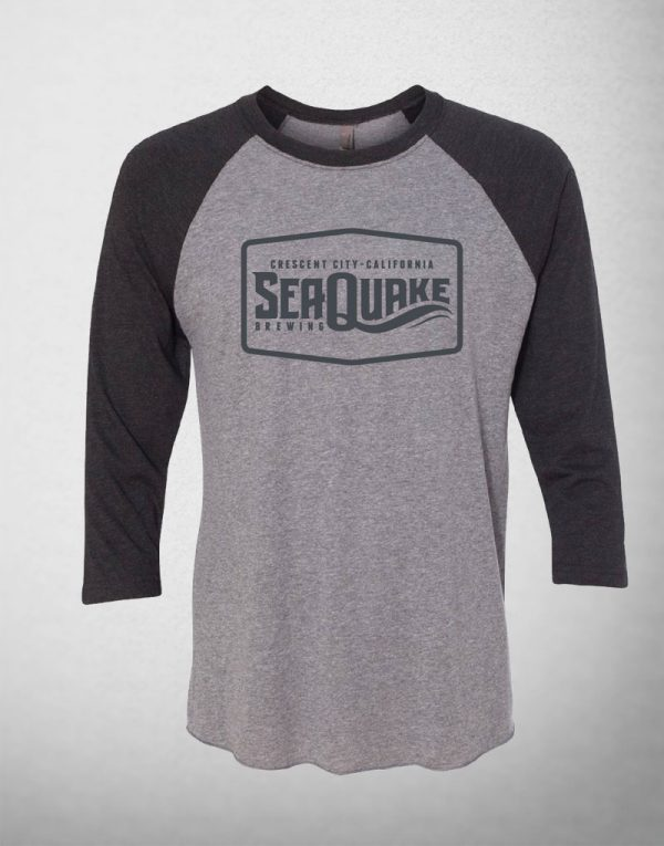 SeaQuake Black and Gray Baseball Shirt
