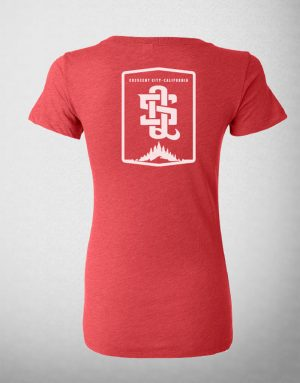 Women's Red Scoop Neck Tee Shirt